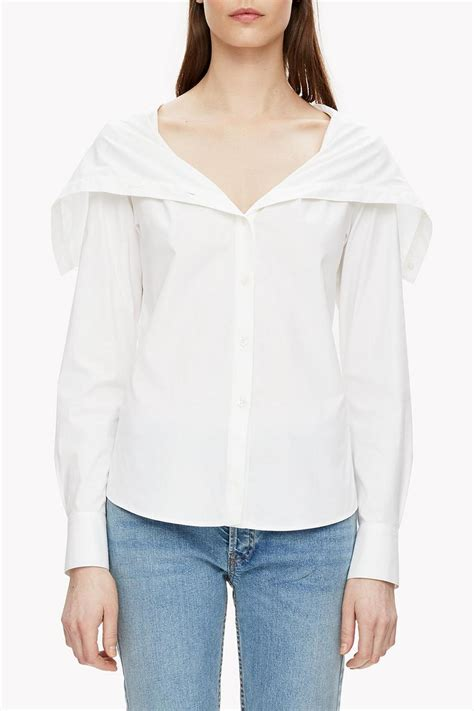 draped collar theory draped collar shirt from vermont by green envy