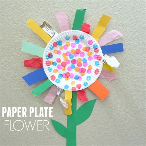 toddler approved paper plate flower motor craft