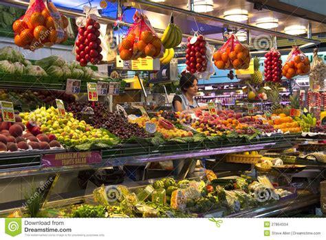 St Joes Food Marketing Mba by Barcelona St Joseph Food Market Spain Editorial Image