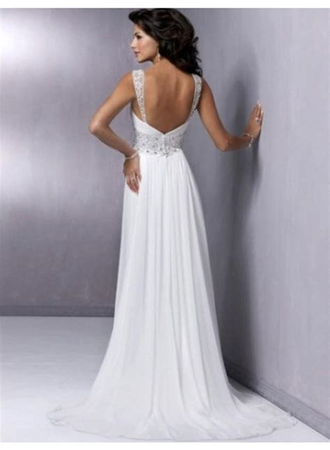 a line spaghetti straps belt slim chiffon wedding