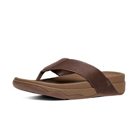 surfer sandals fitflop surfer mens toe post sandal in chocolate brown