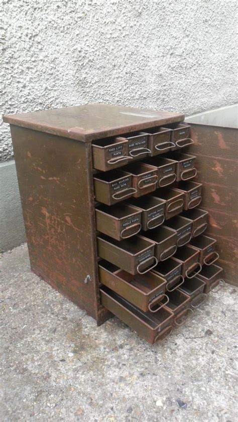 Vintage Drawers by Antique Vintage Industrial Metal 24 Drawer Tools Cabinet Chest