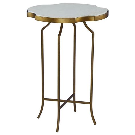 iron accent tables galleria marble and wrought iron accent table