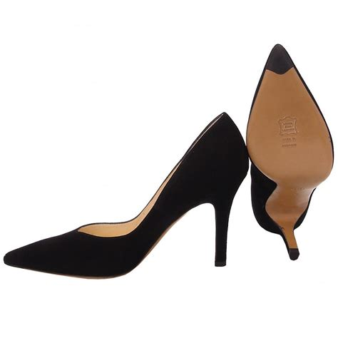 black pointed high heels kaiser dione classic high heel court shoe black