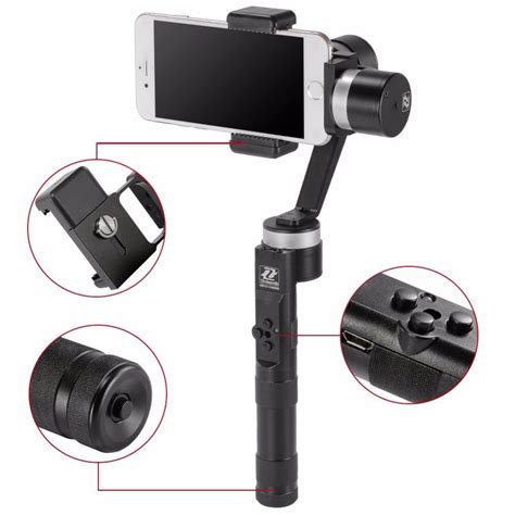 zhiyun z1smooth 3 axis handheld stabilizing phone gimbal for iphone 6plus for gopro h3 h4