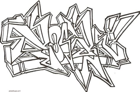 imagenes blanco y negro graffiti dibujos de graffiti para colorear