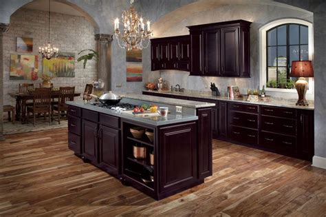 espresso color kitchen cabinets waypoint living spaces style 510 in maple espresso