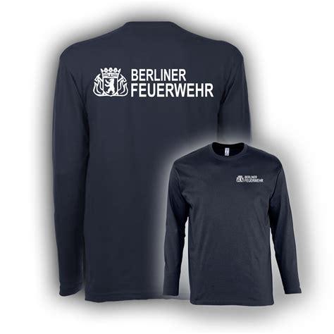 Berliner Feuerwehr Aufkleber by Langarmshirt Bf Navy Hauptstadtfeuerwehr