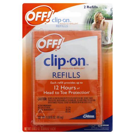 off mosquito l refills off clip on mosquito repellent refills 2 0 0016 oz 46