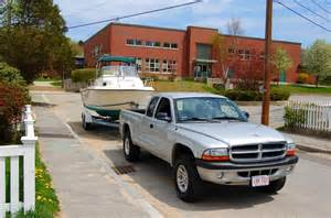 towing with a dodge dakota the hull boating and