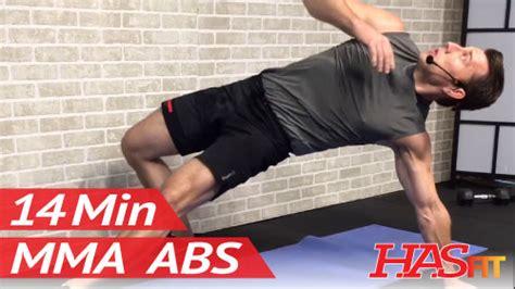 14 min mma ab workout w coach kozak hasfit free