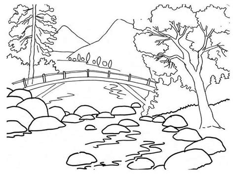 coloring pages landscapes mountains mountains and river landscapes coloring pages bulk color