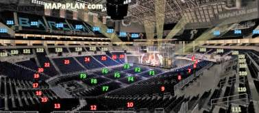 Barclays Center Floor Plan by View From Section 111 Row 6 Seat 12 End Stage Concert