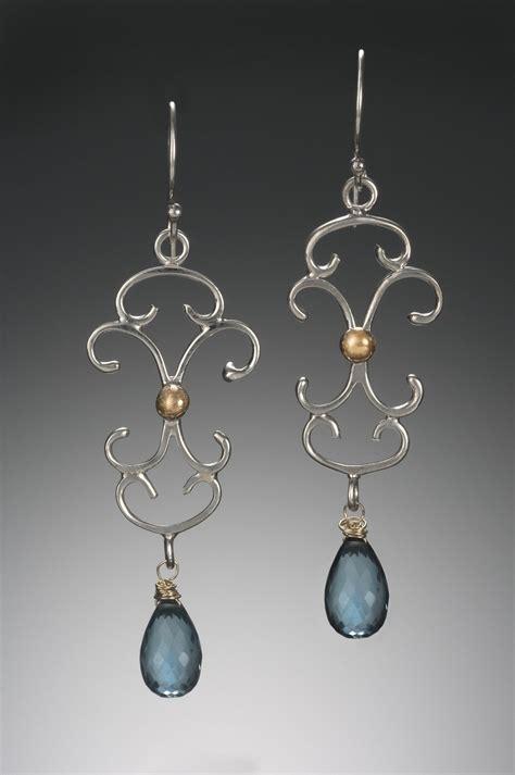 Oversized Chandelier Earrings Large Scroll Chandelier Earrings By Kennedi Milan Gold Silver Earrings Artful Home
