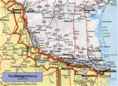 map of texas border towns rda hometown tour texas tamaulipas border the rice design alliance