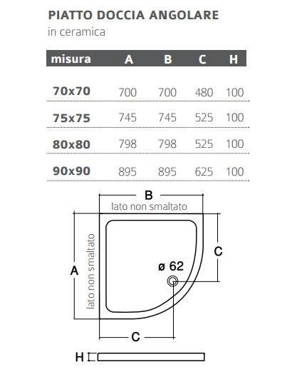 piatto doccia 70x70 semicircolare piatto doccia in ceramica roca semicircolare misura 70