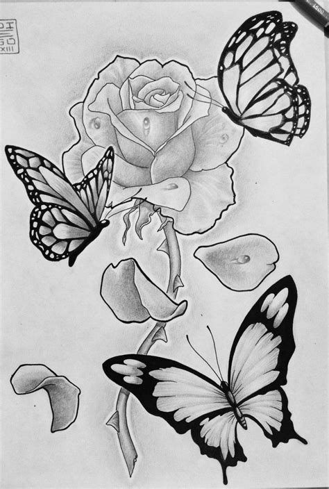 rose tattoo with butterfly picture of roses with butterflies search misc
