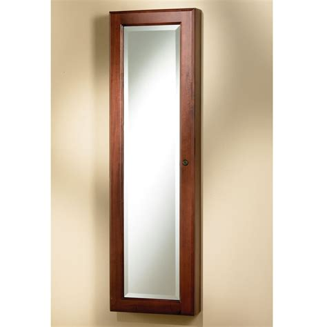 wall mounted mirror jewelry armoire the wall mounted mirrored jewelry armoire hammacher