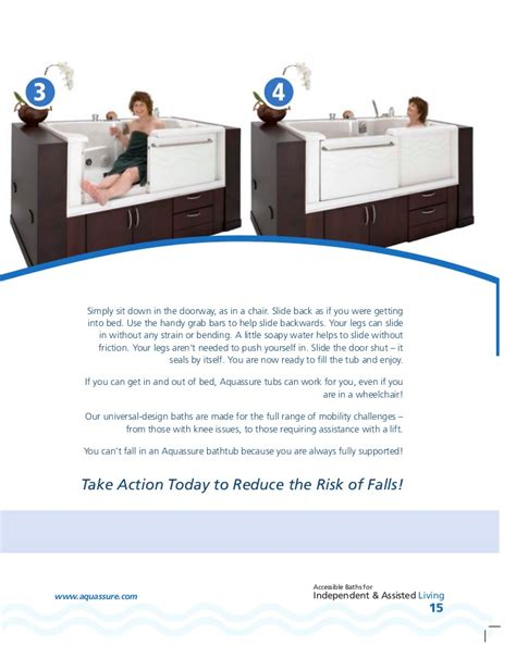 slide in bathtub aquassure adl slide in bathtub brochure