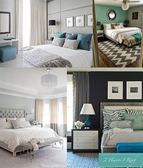 bedroom inspiration grey and turquoise two hearts one roof