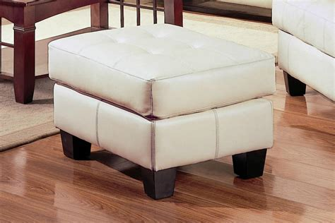 beige leather ottoman coaster samuel 501694 beige leather ottoman steal a sofa
