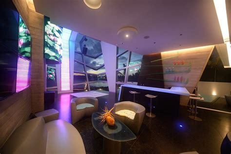 party room home theater modern  dance floor