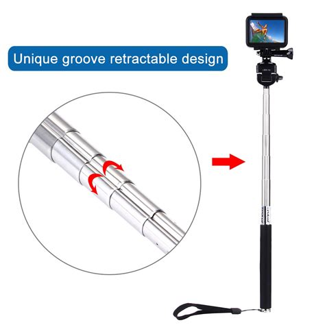 Monopod Holder U Untuk Tongsis Holder Only Black monopod handheld extendable selfie stick for gopro 6 5 4 3 session ebay