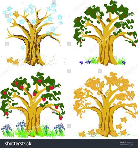 autumn season fall tree stock illustration i2767767 at featurepics four season illustration trees depicting summer stock vector 36632362