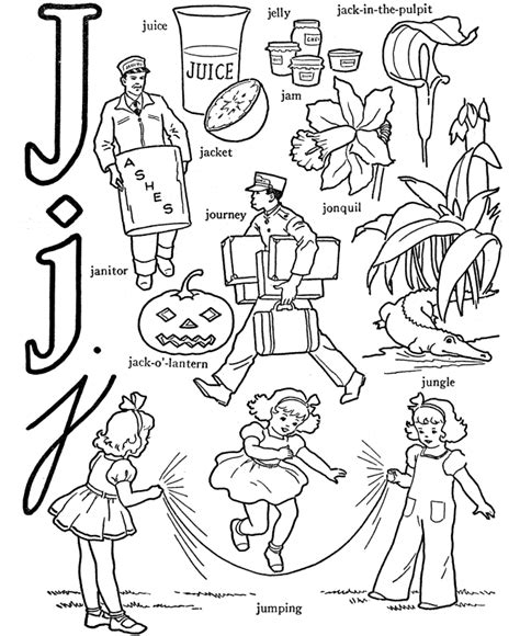 color that starts with the letter j abc alphabet words abc letters words activity sheets
