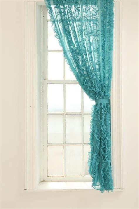 vorhange schlafzimmer pastell vorh 228 nge t 252 rkis organza gardinen ruschen schleife