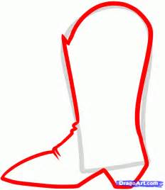 draw boots drawings of cowboy boots cliparts co