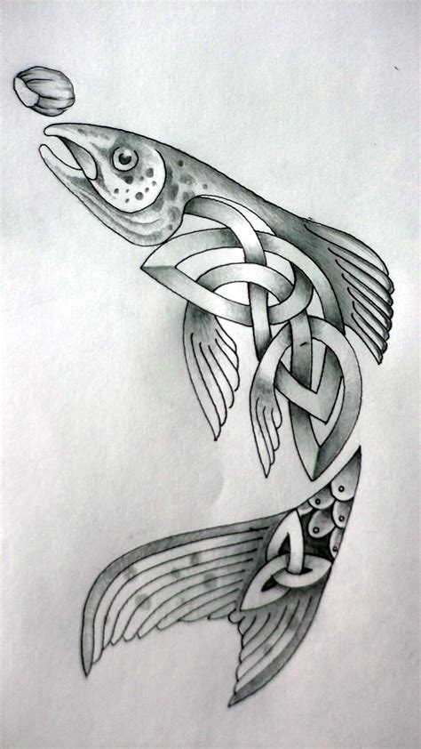salmon tattoo celtic fish by design on deviantart