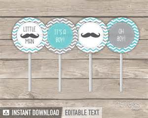 Decorations For Welcome Home Baby little man baby shower printable cupcake toppers my