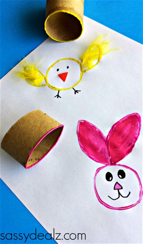 Easter Toilet Paper Roll Crafts - easy easter crafts for crafty morning