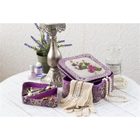 purple bijoux table l l 233 crin 224 bijoux de lady purple l art du cartonnage