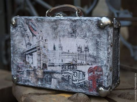 Decoupage Vintage Suitcase - best 25 decoupage suitcase ideas on