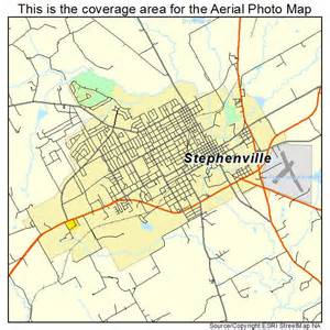 aerial photography map of stephenville tx