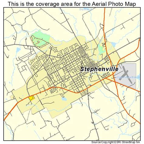 stephenville texas map aerial photography map of stephenville tx texas