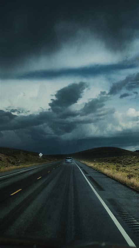 road clouds auto traffic wallpaper