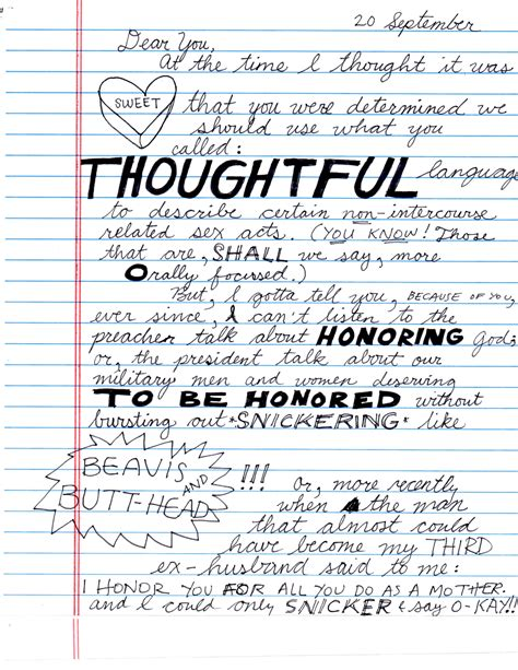 thank you letter to ex boyfriends letters to my ex husband learns to