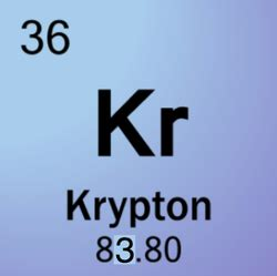 Krypton Protons by 36 Krypton Atomos Atomos