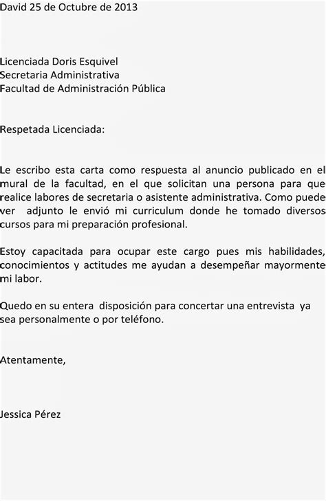 Carta De Empleo Estilo Bloque la mecanografia en la actualidad estilos de cartas comerciales