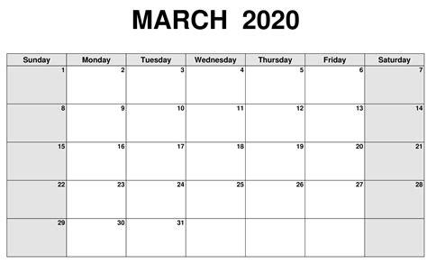 blank calendar march  sheet printable  platform  digital solutions blank calendar
