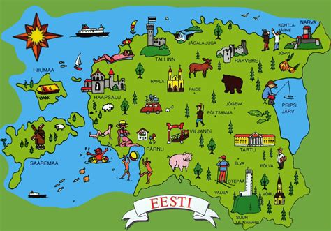 where is estonia on a map estonia tourist map