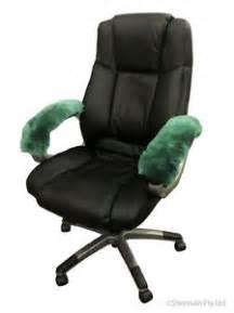 sheepskin armrest cover office arm chair wheelchair