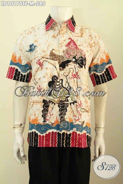 Baju Batik Terbaru Lengan Pendek Ukuran M Motif Bunga model baju batik hem pria desain terbaru pakaian batik