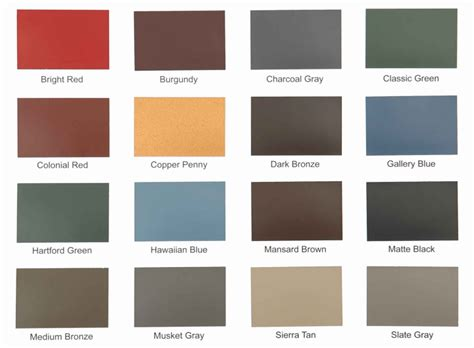 standing seam metal roof colors shed options colors homestead structures