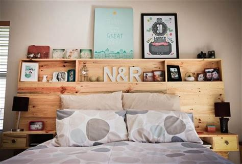 how to build a headboard with shelves pallet headboard with shelves recycled things