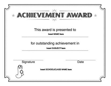 Certificate Template Word Playbestonlinegames Microsoft Word Award Template