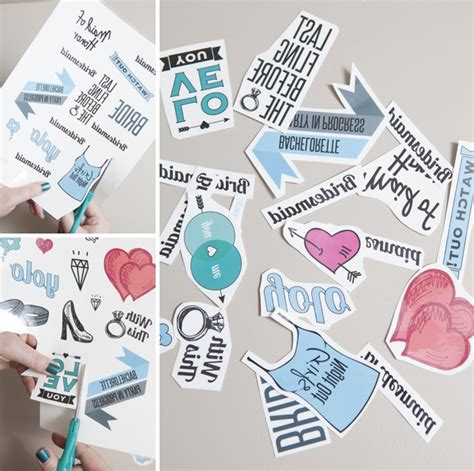 How To Make A Temporary With Regular Paper - diy bachelorette temporary tattoos something turquoise